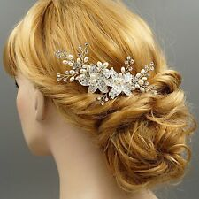 Bridal Hair Comb Pearl Crystal Headpiece Hair Clip Wedding Accessories 00168 S