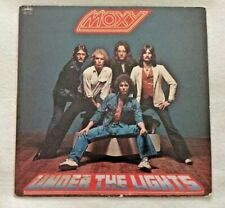 """Autographed/Signed Moxy """"Under The Lights"""" Vinyl Mike Reno (Loverboy)"""