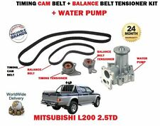 FOR MITSUBISHI L200 ANIMAL 2.5DT 1996-2007 TIMING CAM BELT KIT + WATER PUMP KIT