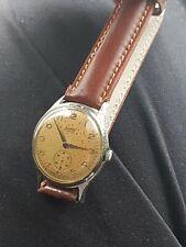 Vintage 1950s Oversized SILVANA 15 Jewels Swiss Watch Running Wristwatch