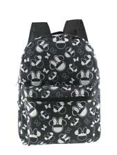 "Disney Minnie Mouse Allover Print Black 16"" Girls Large School Backpack"