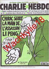 Charlie Hebdo n°199 du 10/04/1996 Chirac Li Peng Gébé Corse