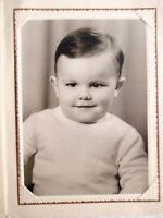 Ancienne Photographie Moreau à Nouzonville - Portrait Petit Enfant