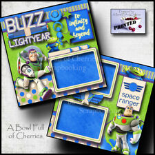Disney Buzz Lightyear Toy Story ~ 2 premade scrapbook pages printed Cherry 0031