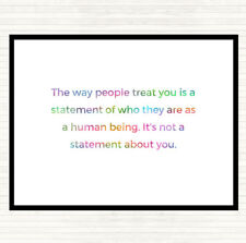 The Way People Treat You Rainbow Quote Mouse Mat Pad