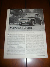 1962 VOLVO 544 SPORTS    -  Original Vintage Article