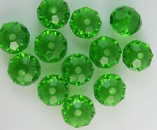 600PC green Crystal Faceted Gems Loose Beads 3*4mm DIY jewelry