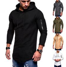 Nueva sudadera con capucha para hombre entallada manga larga Músculo Camiseta Prendas para el torso Blusa Informal Camiseta