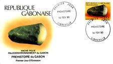 PREHISTORY PALAEONTOLOGY  PREHISTORIC TOOLS 1990 GABON 4 FDC