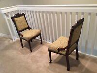 1890-1900 American Eastlake Victorian / Pair chairs