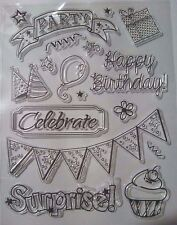 Birthday Cake Party Clear Ink Stamp Card Making Scrapbooking Journal Home Decor