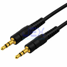 """6' ft Headphone Speaker cable 1/8"""" 3.5mm Stereo Jack Male to Male Gold Plated"""