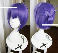 lavender color straight cosplay Party hair wig + cap
