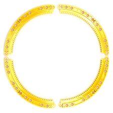 Lego 4x Genuine Technic Bright Yellow Curved Round Gear Racks 24121 6151167 NEW