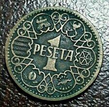 ESPAÑA: 1 PESETA FRANCISCO FRANCO. AÑO 1944. BC-. ENVIO GRATIS. IDEAL Y BARATA.