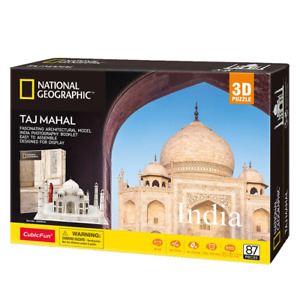 National Geographic India Taj Mahal 87 Piece 3D Puzzle NEW