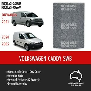 Volkswagen Caddy SWB - Genuine Flooring Marine Grade Grey Carpet Computer Cut