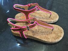 Michael Kors New & Gen. Girls Pink Leather Sandals UK 12, EU 31 With Gold Logo