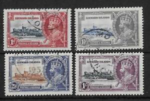 Leeward Islands 1935 Silver Jubilee SG88-91 Fine Used Cat£50