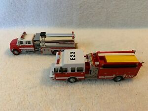 Boley Trucks HO Scale Lot of 2 International Fire Tanker and Ladder Truck 1/87