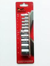 "Teng Tools M3814 TX sockets set With 1/4"" and 3/8"" drive 10 PC  Chrome vanadium"