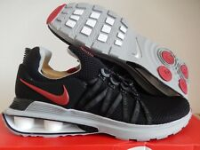 MENS NIKE SHOX GRAVITY TURBO NZ BLACK-VARSITY RED-WHITE SZ 11 [AR1999-016]