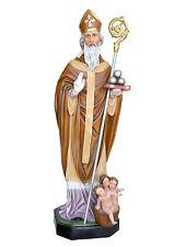 Saint Nicholas of Bari fiberglass statue cm. 172 with glass eyes