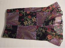 Vintage Heart and Soul Purple & Black Flower Design Skirt Women's Size Medium M