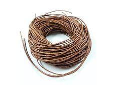 20m 1mm MED marrone cotone cerato spago laccio corda, perline artigianato