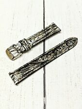 NOS Ladies Fashion Watch Strap Band 18mm - Silver Peacock Snake Quick Release