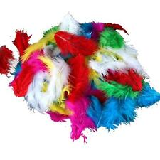 Lot of 120 Assorted Mix of Bright Color Marabou Turkey Feathers