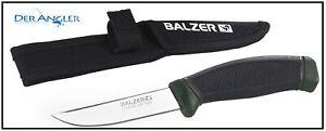 Balzer Camtec Angelmesser Jagdmesser rostfrei mit Gürteltasche Scheide