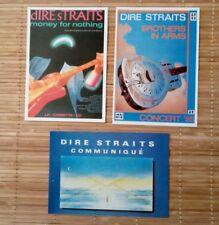 3 carte postale Dire Straits concert