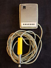 Vintage CONCORD ANALOG MICROPHONE Type CE-192H w/ 10ft cord MId Century Mike