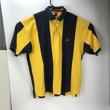 VTG 90s Tommy Hilfiger Striped Color-block Lions Crest Rugby Polo Shirt Sz XL