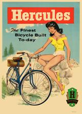 Hercules Vintage Bicycle Poster Print Art Advertisement - Cycling - Bike
