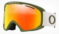 NEW OAKLEY O FRAME 2.0 PRO XL SNOW GOGGLES Dark Brush Grey/Fire OO7112-08