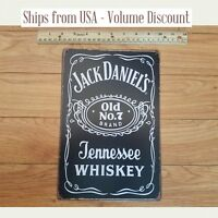 Jack Daniel's Whiskey Bottle Jack Daniels Old No 7 Bottle Jack Daniel's Tin Sign