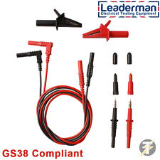 LDM020 Electrical Test Lead Set fits Kewtech, Megger, Robin, Fluke, Martindale