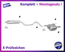 Auspuffanlage Opel Vectra C / GTS 1.6 1.8 Auspuff mit Chromblende Montagesatz
