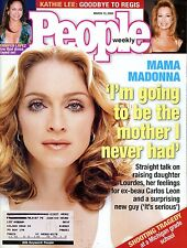 People Mag March 13, 2000 Madonna future mother & Shooting at Michigan school