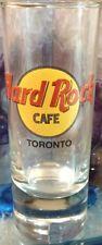 "Hard Rock Cafe TORONTO 4"" SHOT GLASS Cordial Classic HRC Logo BLACK Letter NEW!"