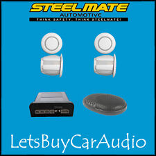 STEELMATE EBAT PTSC1 WHITE REAR PARKING SENSOR KIT (WITH 4 SENSORS)