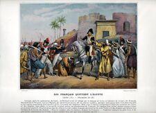 Stampa antica NAPOLEONE BONAPARTE 1801 PARTENZA DALL' EGITTO 1890 Old print