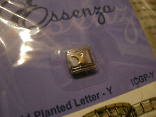 ESSENZA GOLD PLATED ITALIAN CHARM - LINKS TOGETHER MAKES A BRACELET - LETTER - Y