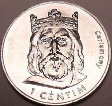 Large Gem Choice Unc Andorra 2002 1 Centim~Charlemagne~Free Shipping