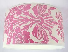 "16"" Lampshade Handmade in UK - Laura Ashley Tatton Cerise (Pink) Wallpaper"
