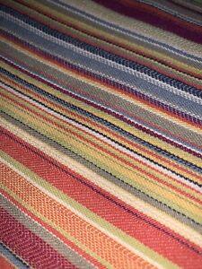 Crate & Barrel Riley Stripe Cotton Multi Full/ Queen Duvet Cover