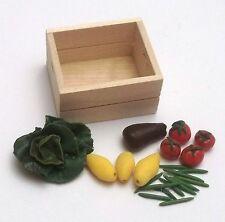 caisse avec légumes miniatures,maison de poupée,vitrine,alimentation  CL11