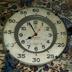 Timeworks Uttermost French Submarine Gray Wall Clock Restoration hardware